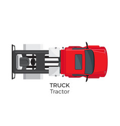 tractor truck top view flat icon vector image