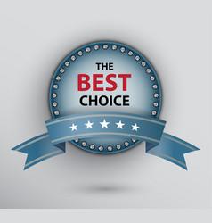 blue circle poster with ribbon vector image