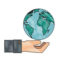 Earth world isolated vector