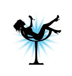 Female silhouette sits in a glass vector image vector image