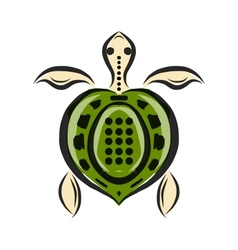 Funny sketch of tortoise for your design vector image