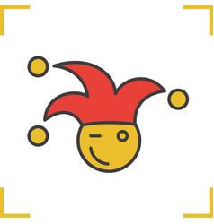 1st april fool color icon vector