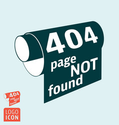 404 page not found - http error message vector image