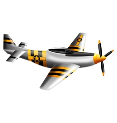 A mustang fighter plane vector image