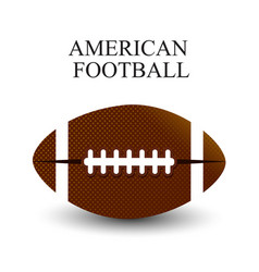 A realistic of an american football on a white vector