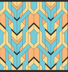 Abstract art deco color seamless pattern vector