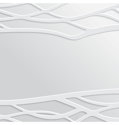 Abstract White Wavy Background vector image