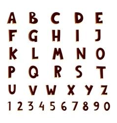 alphabet black silhouette cartoon vector image