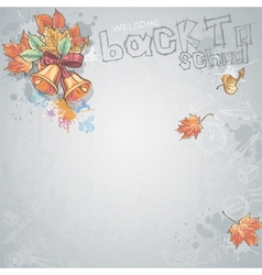 Background image for text with a school bell and vector image