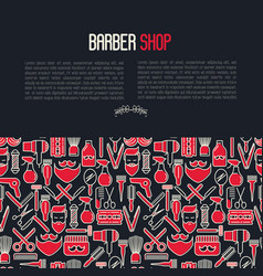 barber shop concept vector image