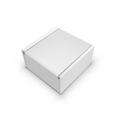 Blank tuck in flap packaging paper box vector