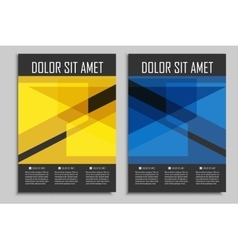 brochures template for presentations vector image