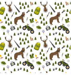 Camping trip seamless pattern accessories and vector