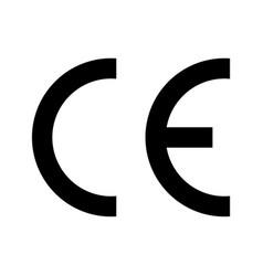 ce mark icon symbol european certificate ce logo vector image