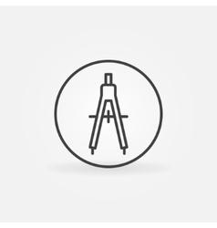 Compasses concept icon vector