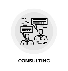 Consulting Line Icon vector