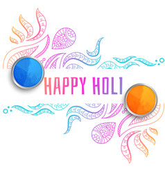 Decorative happy holi festival greeting background vector