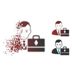 destructed pixel halftone ethereum accounter icon vector image