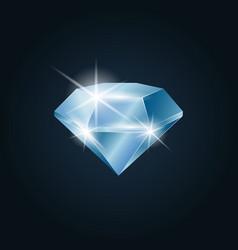 Diamond gemstone shining vector