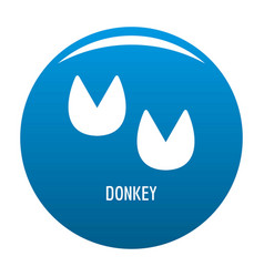 Donkey step icon blue vector
