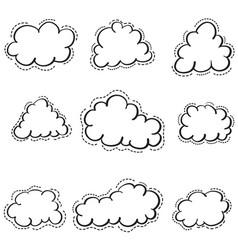 Doodle of cloud set weather vector