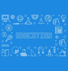 education concept horizontal outline frame vector image