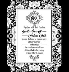 elegant floral swirls lacy pattern ornate frame vector image