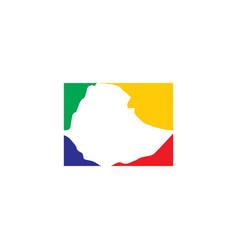 Ethiopia map logo icon design element vector