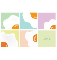 fired egg breakfast concept art vector image