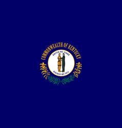 Flag kentucky united states america vector