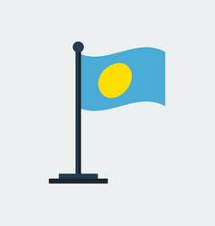 flag of palauflag stand vector image
