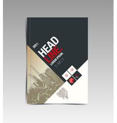 Flyer brochure design template abstract vector