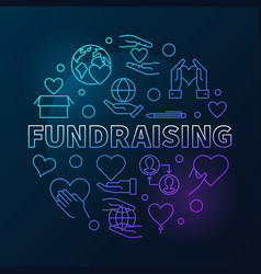 fundraising round modern in vector image