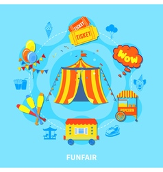 Funfair design vector