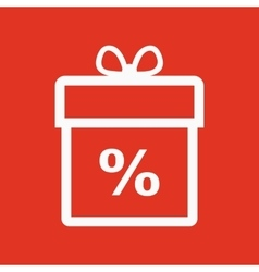 Gift box icon Discount Present symbol Flat vector image