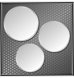 Gray panel vector