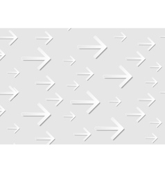 Grey abstract tech paper arrows background vector