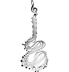 guitar music notes vector image