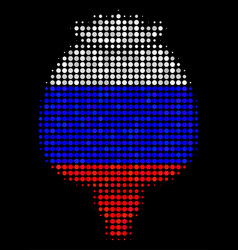 Halftone russian opium poppy icon vector