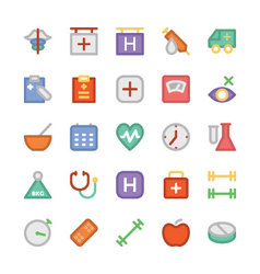 Health Colored Icons 5 vector image