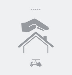 House protection gesture - web icon vector