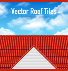 House roof tile poster vector