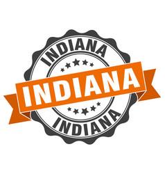 indiana round ribbon seal vector image vector image