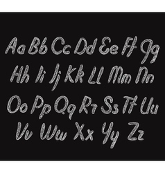 Letters of the alphabet written vector image