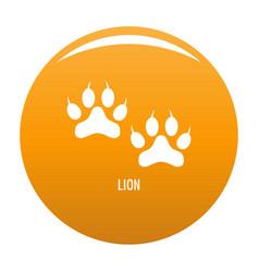 lion step icon orange vector image