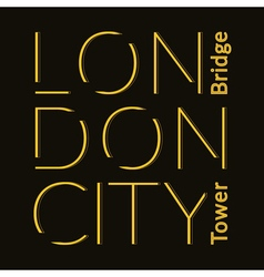 London City t-shirt vector