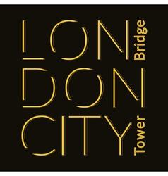 London city t-shirt vector