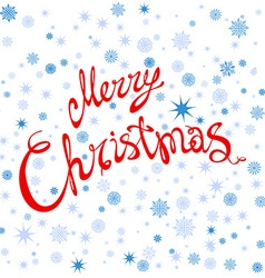 Merry Christmas typography handwriting snowflake vector