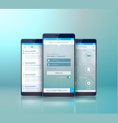 mobile user interface design concept vector image