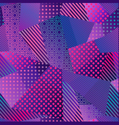 Neon color cloth seamless pattern vector
